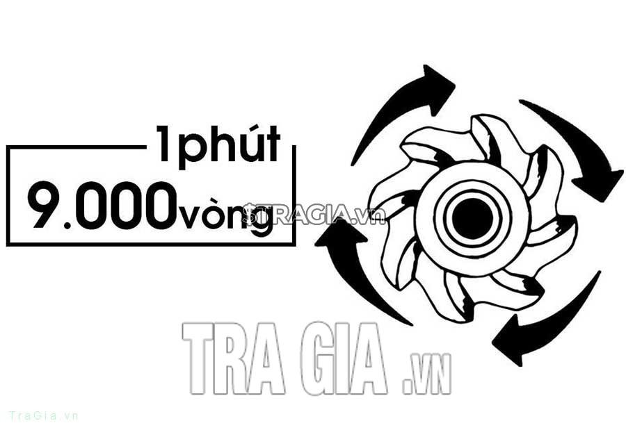 Máy cắt cỏ Oshima t-gx25 có tốc độ vòng quay lên đến 9000 vòng/phút