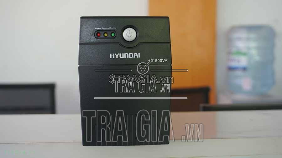 UPS Hyundai HD 500VA tự động sạc pin khi nguồn điện trở lại bình thường ngay cả khi UPS đã được tắt