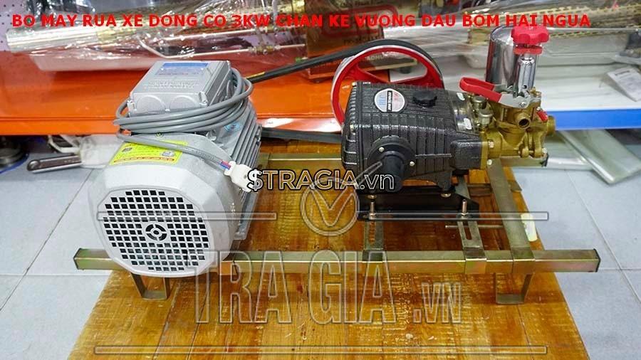 Bộ rửa xe dây đai được trang bị 1 motor 3kW giúp tăng năng suất làm việc
