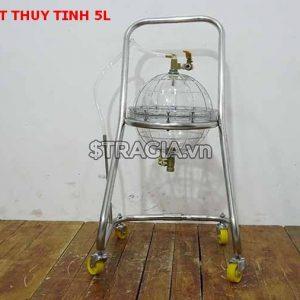 Bình hút nhớt thủy tinh 5L chất lượng