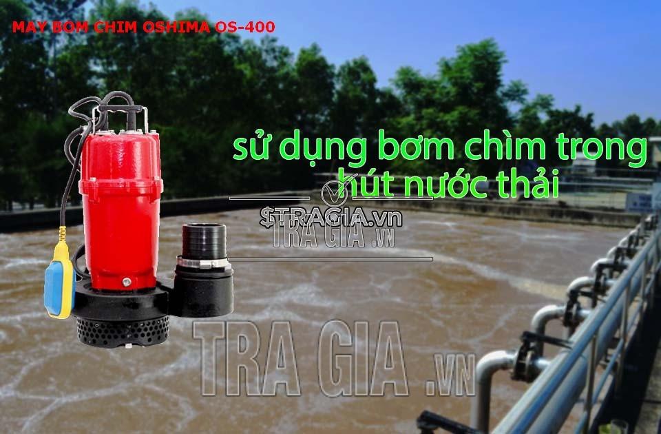 Máy bơm nước oshima OS400 trong việc hút nước thải