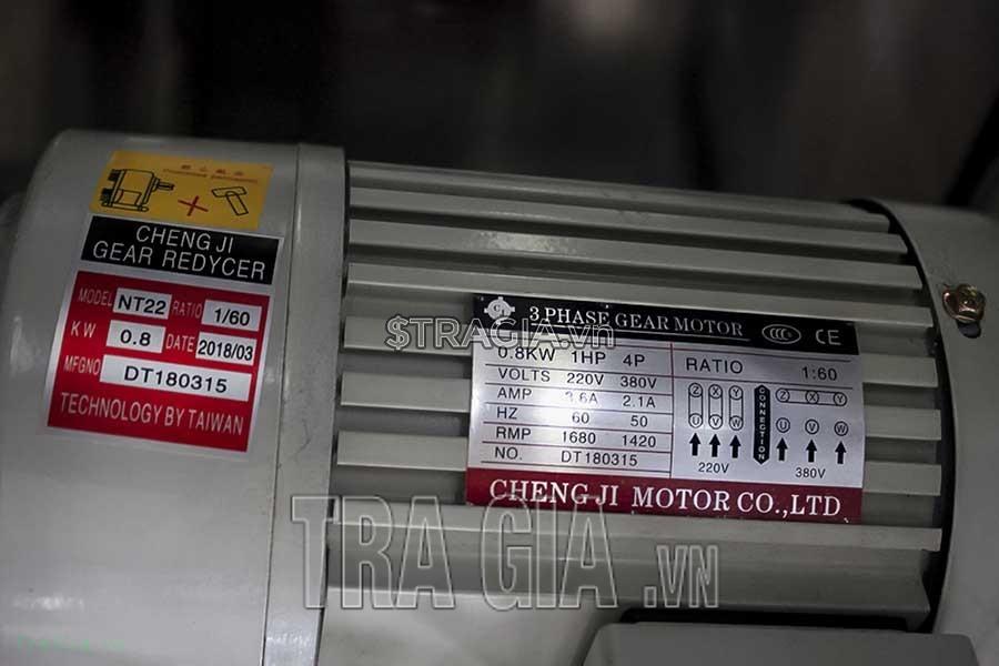 Bảng thông số máy ép nước mía