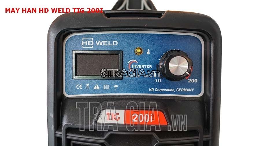 Bảng điều khiển của máy hàn que TIG 200i
