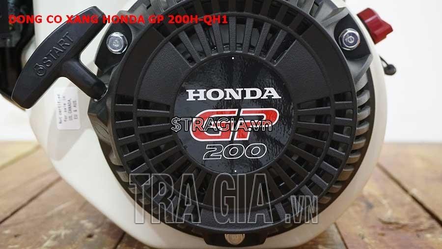 Động cơ nổ Honda GP 200H QH1 có công suất 6.5HP mạnh mẽ cùng với tay giật nổ dễ khởi động