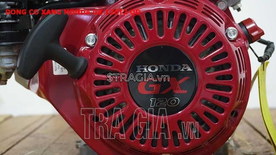 Máy nổ Honda GX 120T2 QD có công suất 4.0HP mạnh mẽ cùng với tay giật nổ dễ khởi động