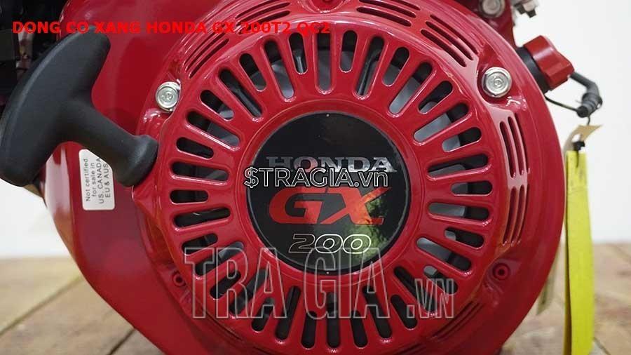 Động cơ nổ Honda GX 200T2 QC2 có công suất 6.5HP mạnh mẽ cùng với tay giật nổ dễ khởi động