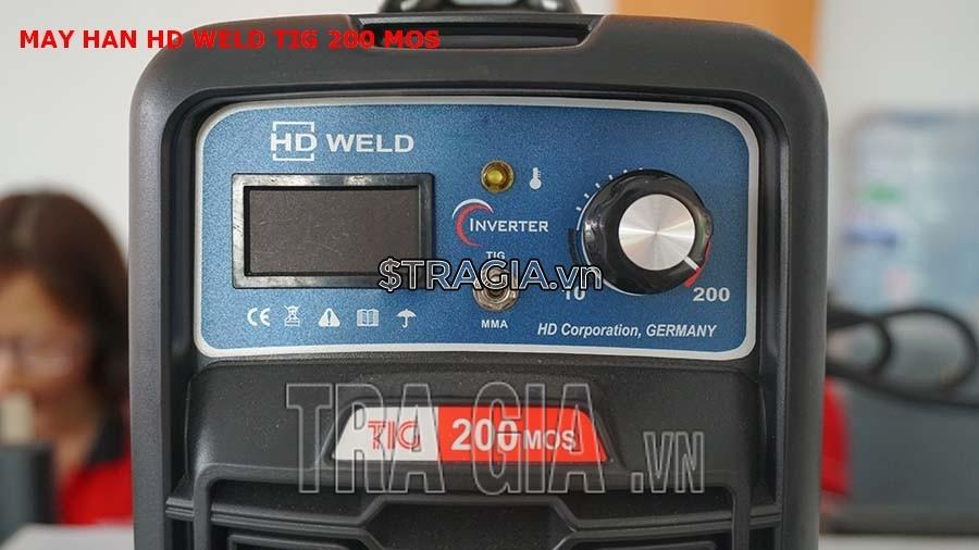 Bảng điều khiển của máy hàn que HD TIG 200MOS