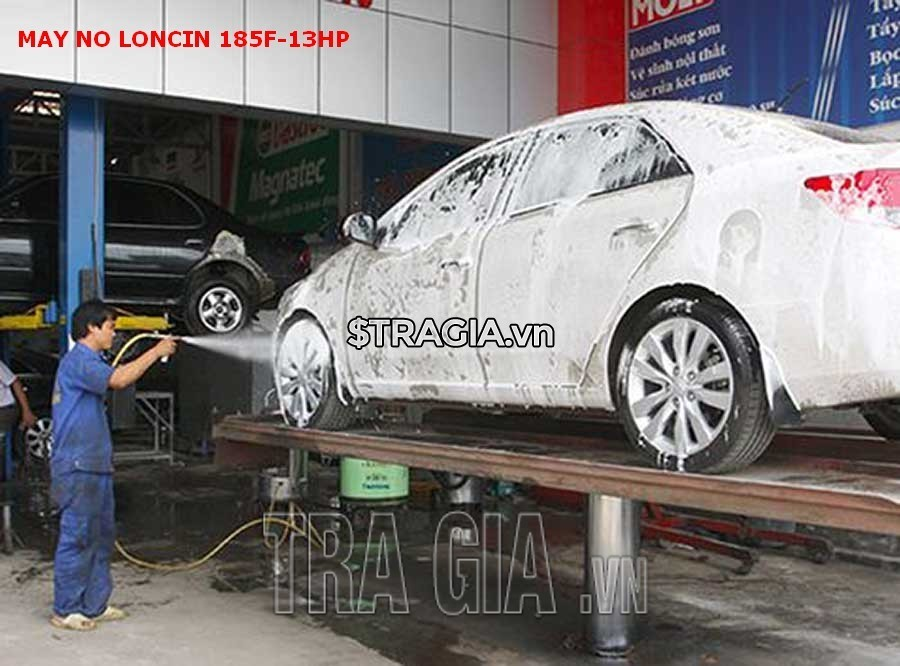 Động cơ xăng LONCIN 185F 13HP còn có thể sử dụng trong các tiệm rửa xe