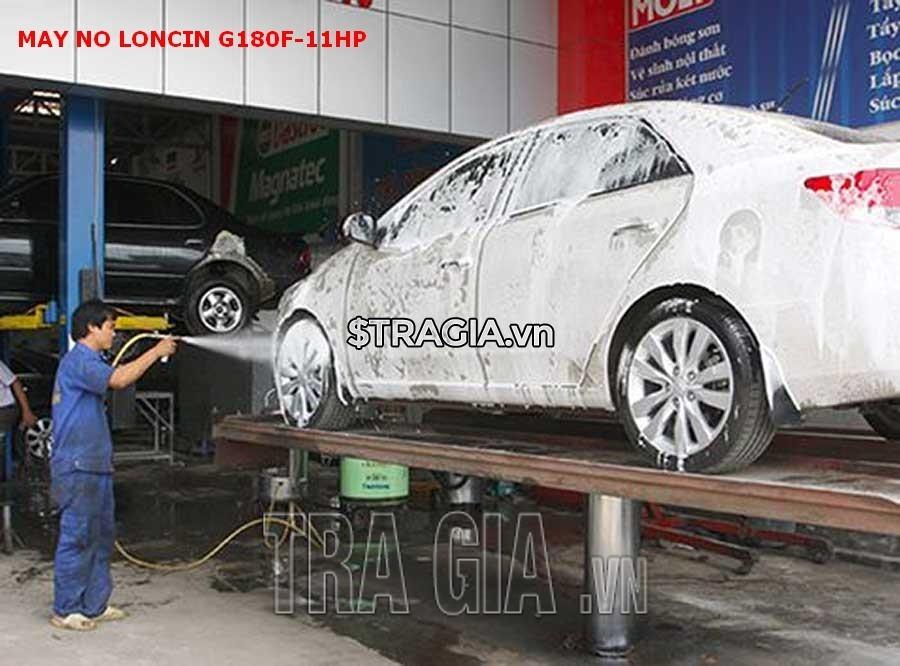 Động cơ xăng LONCIN 180F 11HP còn có thể sử dụng trong các tiệm rửa xe