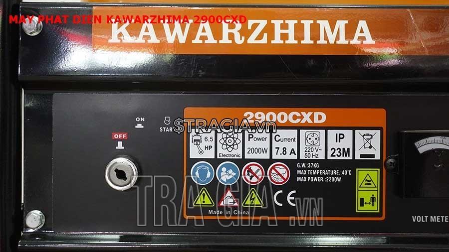 Máy phát điện chạy xăng 2900CXD chất lượng