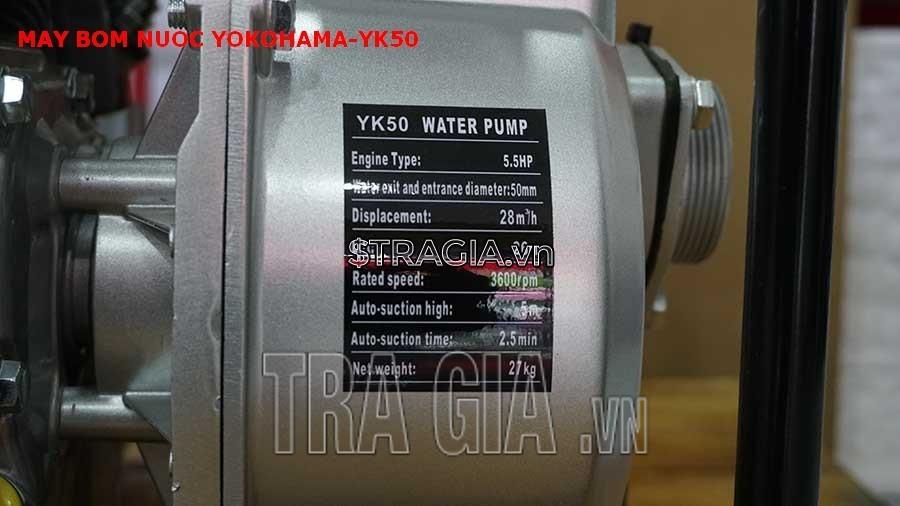Thông số kỹ thuật của Yokohama YK-50