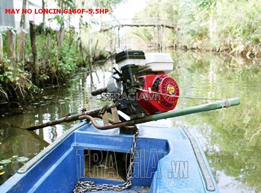 Động cơ xăng LONCIN G160F 5.5HP được sử dụng để chạy ghe xuồng