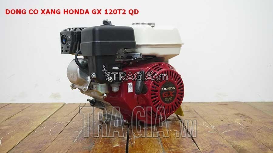 Động cơ xăng Honda GX 120T2 QD là sản phẩm được tin dùng trong chạy ghe xuồng, động cơ cho máy tuốt lúa, máy khoan cắt bê tông,