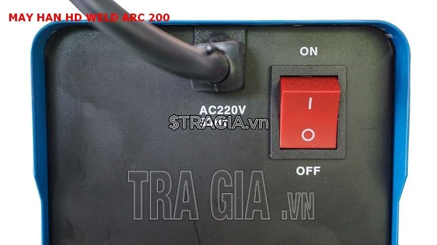 Công tác khởi động của máy hàn điện tử HD MMA ARC 200