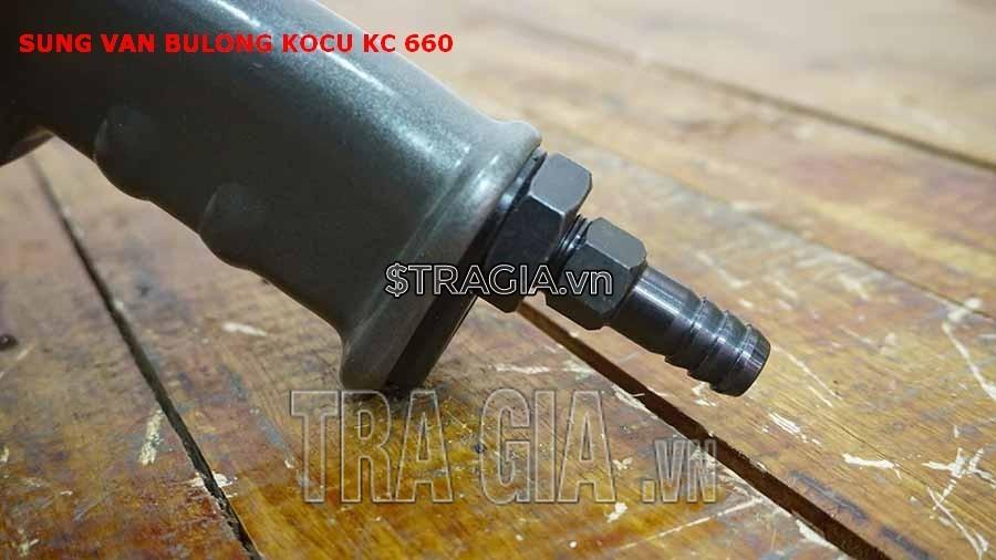 Tay cầm của máy mở bulong Kocu KC-660 được thiết kế chắc chắn