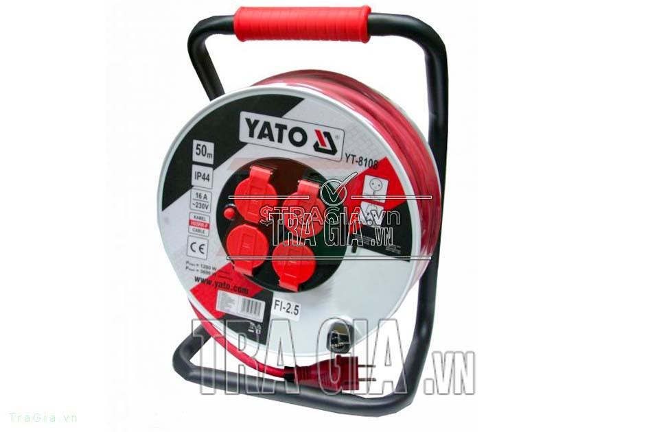 Ổ cắm quay tay Yato YT-8108 được trang bị tay cầm tiện lợi