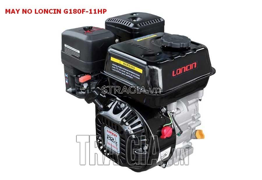Động cơ xăng LONCIN 180F 11HP với thiết kế gọn gàng, tiện dụng cùng với trọng lượng 28kg
