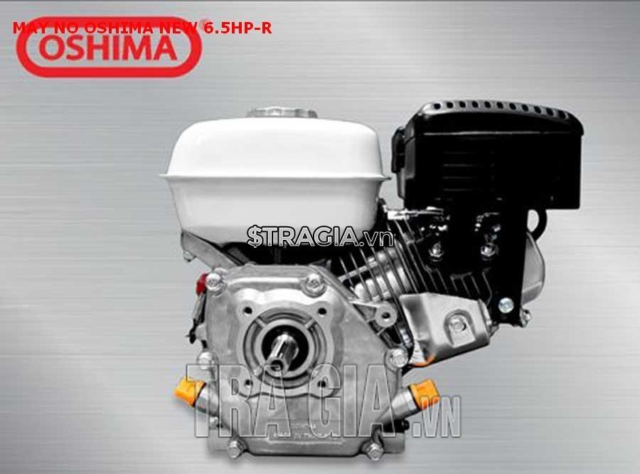 Động cơ nổ OSHIMA NEW-R 6.5HP có kích thước trung bình, trọng lượng 16kg, giúp di chuyển dễ dàng