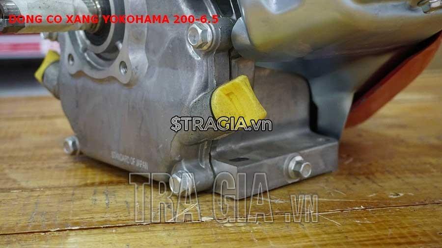 Chân máy nổ YOKOHAMA 200 6.5HP dày giúp máy không bị rung lắc khi hoạt động