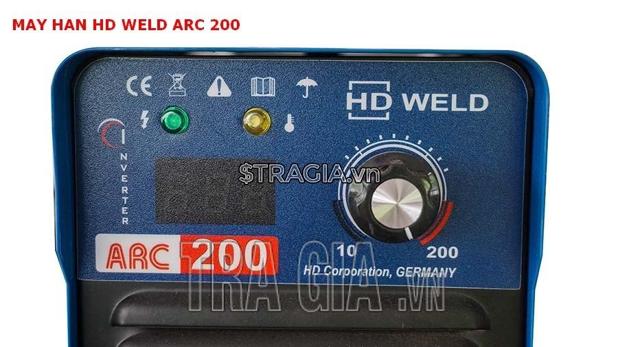 Bảng điều khiển của máy hàn điện tử HD MMA ARC 200