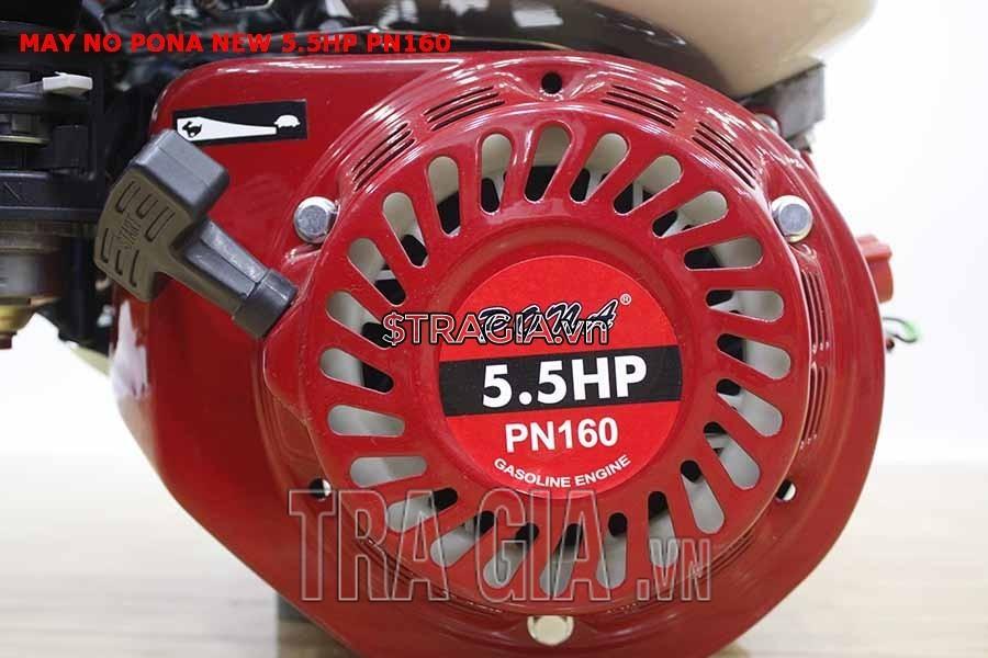Động cơ nổ PONA PN160 5.5HP có công suất 5.5HP mạnh mẽ cùng với tay giật nổ dễ khởi động