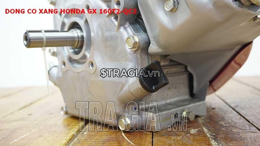 Chân của máy nổ Honda GX 160T2 QC2 dày giúp máy không bị rung lắc khi hoạt động