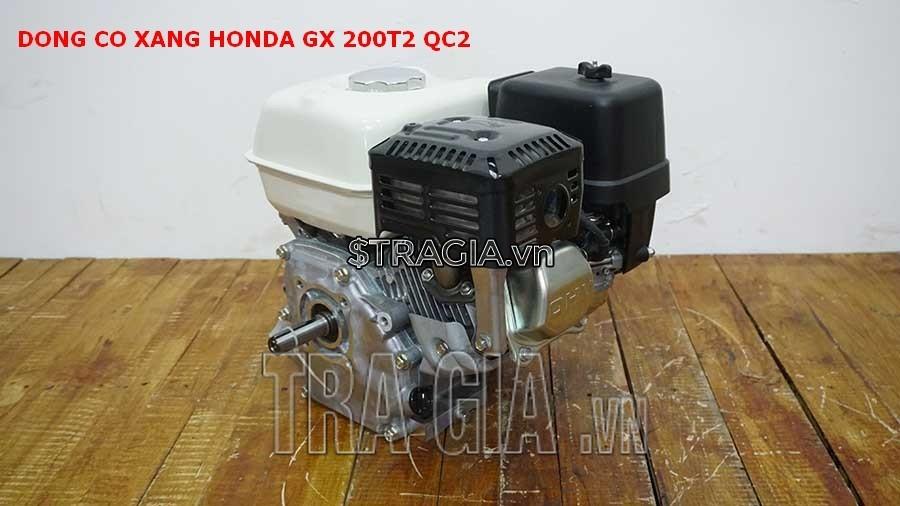 Máy nổ Honda GX 200T2 QC2 có thiết kế gọn gàng, tương đối nhẹ, có thể di chuyển máy dễ dàng