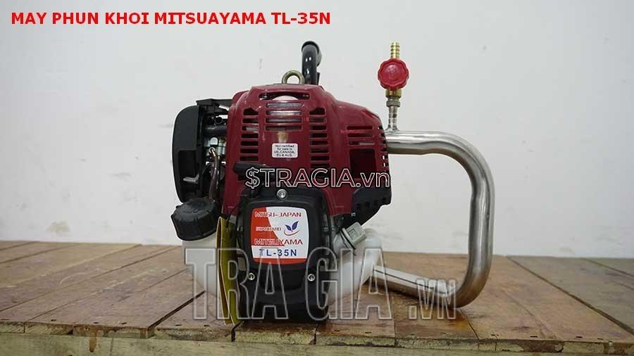 Mitsuyama TL-35N là dòng máy chạy xăng an toàn và dễ sử dụng hơn so với loại máy phun khói chạy bình gas mini