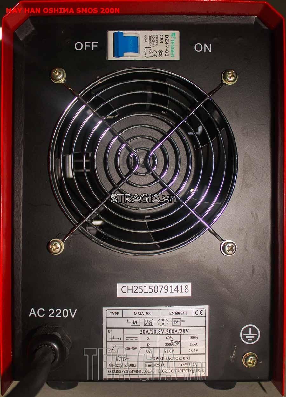 Máy hàn điện tử Oshima SMOS 200N tiết kiệm điện năng