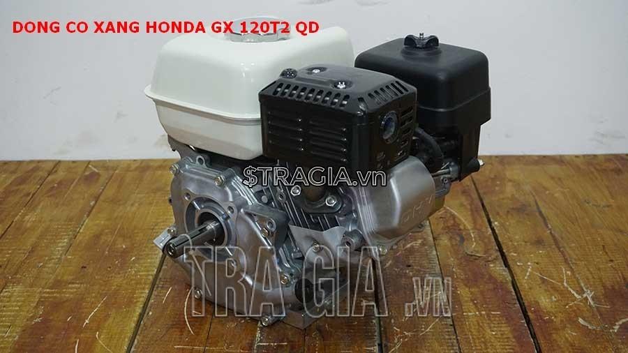 Động cơ nổ Honda GX 120T2 QD với thiết kế gon gàng, tương đối nhẹ, giúp di chuyển máy dễ dàng