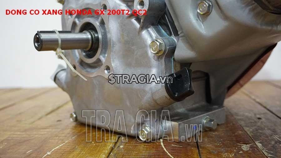 Chân của máy nổ Honda GX 200T2 QC2 dày giúp máy không bị rung lắc khi hoạt động
