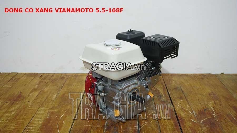 VINAMOTO 5.5HP 168F với thiết kế gọn gàng, tương đối nhẹ giúp người dùng có thể di chuyển máy khi cần thiết