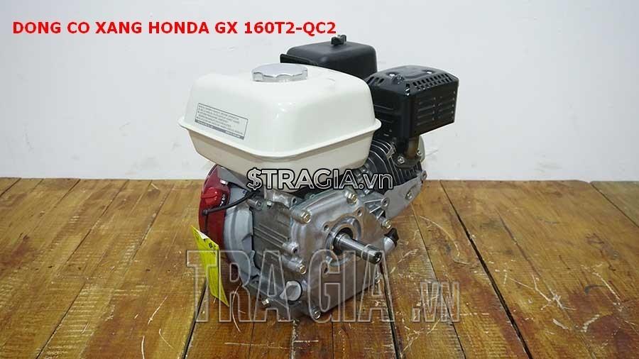 Máy nổ Honda GX 160T2 QC2 với thiết kế gọn gàng, tương đối nhẹ, giúp di chuyển máy dễ dàng