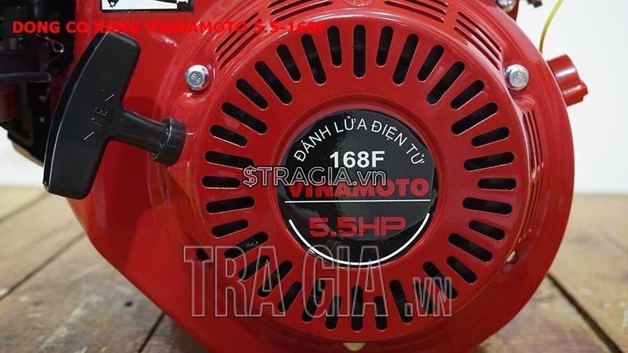 Động cơ nổ VINAMOTO 5.5HP 168F với công suất 5.5HP mạnh mẽ với tay giật nổ dễ khởi động