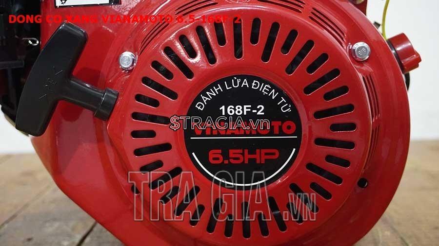 Động cơ nổ VINAMOTO 6.5HP 168F có công suất 6.5HP mạnh mẽ cùng với tay giật nổ dễ khởi động