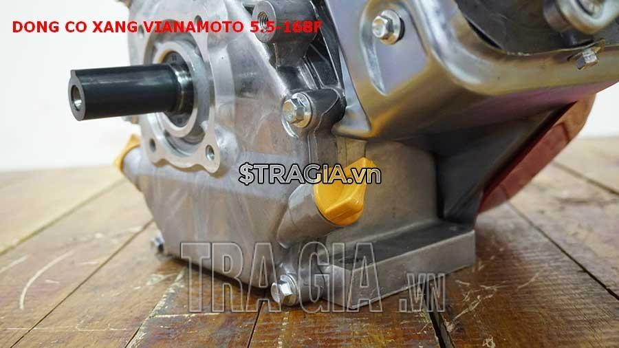 Chân máy nổ VINAMOTO 5.5HP 168F dày giúp máy không bị rung lắc khi hoạt động