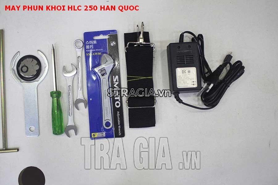 Phụ kiện đi kèm theo máy phun khói HLC-250 Hàn Quốc