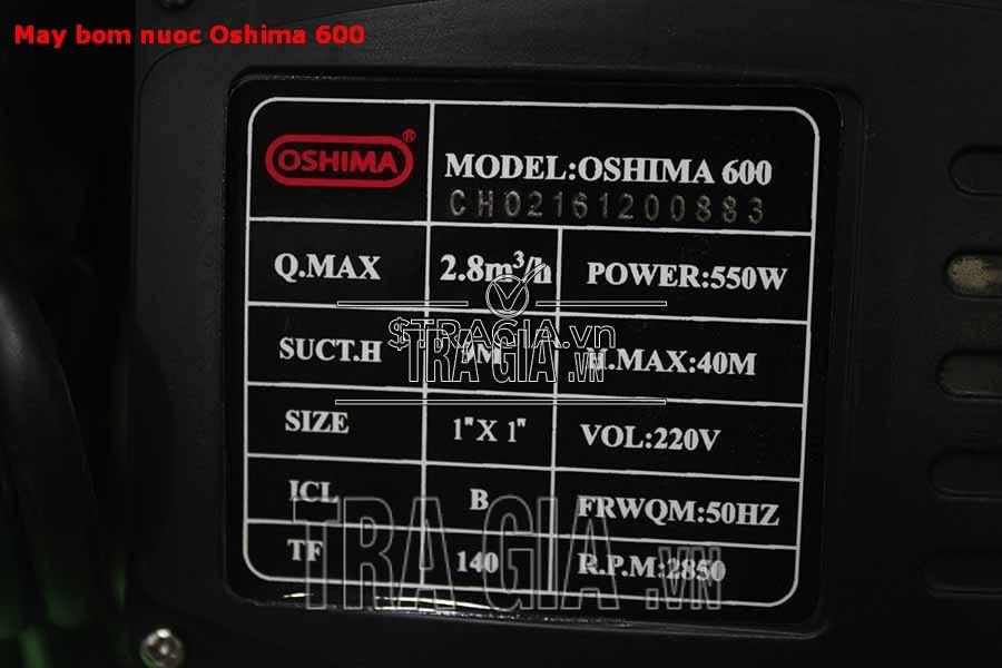 Hộp điều khiển máy bơm dân dụng oshima 600