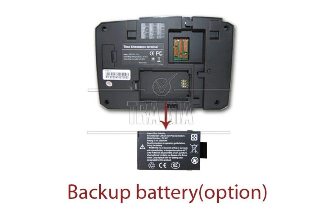 Máy chấm công vân tay TFT 600 tích hợp pin lưu điện