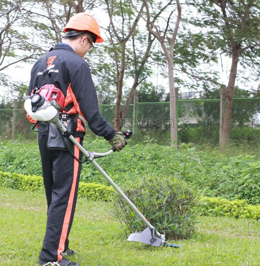Máy cắt cỏ đeo lưng tiết kiệm được thời gian, công sức trong quá trình làm việc