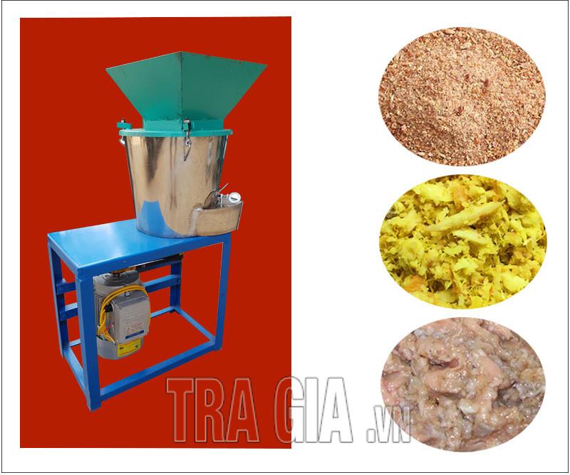 Máy tích hợp 3 chức năng nghiền khô, băm nhỏ, nghiền nát nguyên liệu làm thức ăn chăn nuôi
